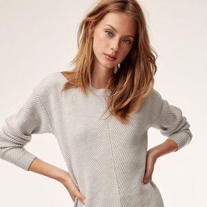 ARITZIA | WILFRED FREE Light Grey Wool Sweater